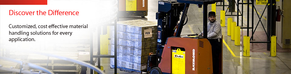 Material Handling Solutions & Raymond Forklifts from Abel Womack.