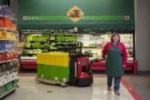8210 walkie pallet jack in grocery store