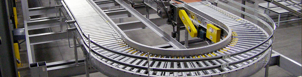 Image of an Abel Womack conveyor, which allows you to Achieve significant space savings and increased levels of productivity.