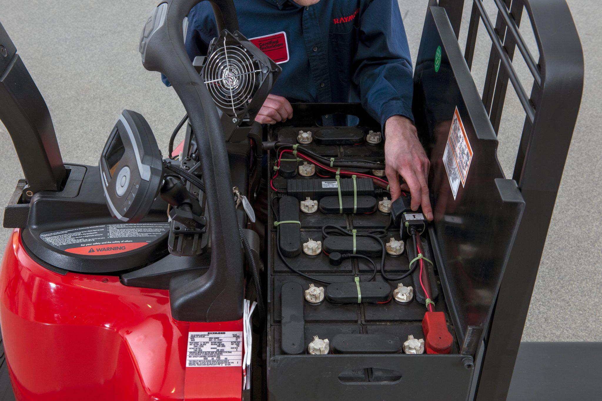 Forklift battery technology