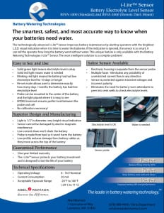 Battery Electrolyte Level Sensor