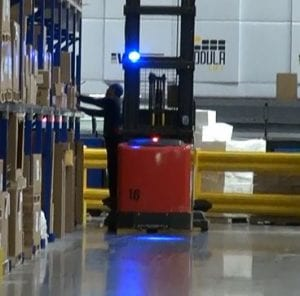 Blue-LED-forklift-warning-light