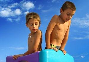 Boys-on-playground-summertime