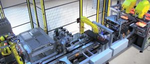 Robotic assembly with conveyor