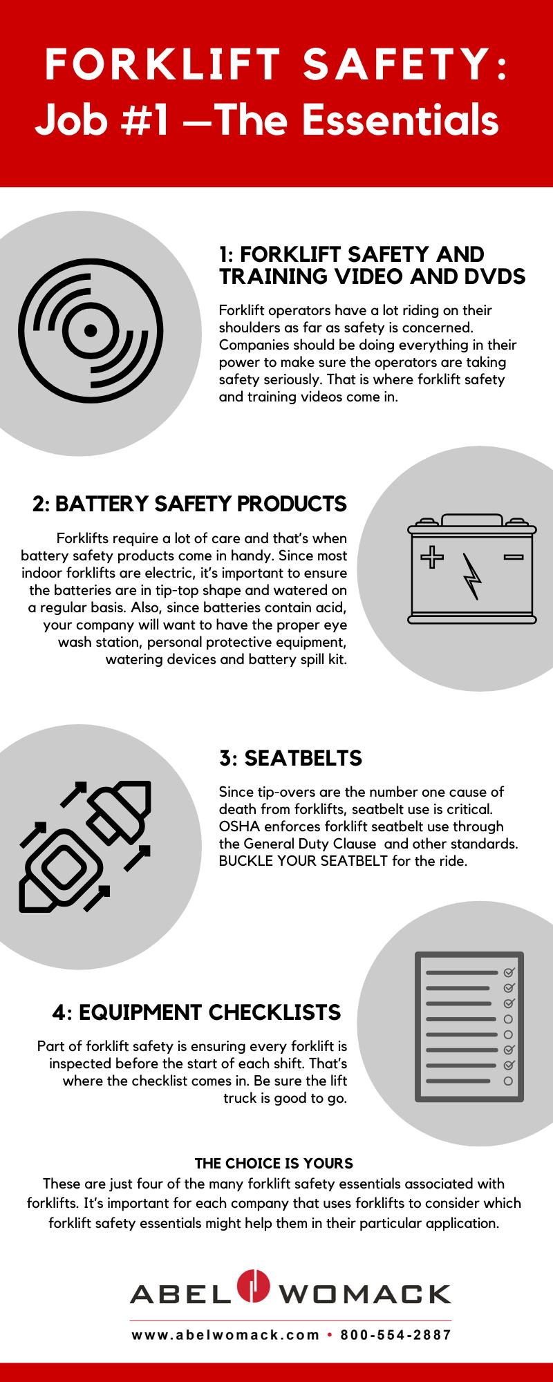 Infographic - Forklift Safety Essentials
