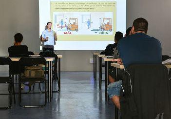 Forklift warehouse training