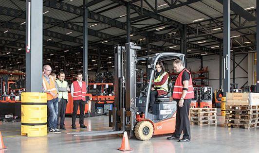 Forklift warehouse training class