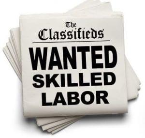 Hiring skilled labor