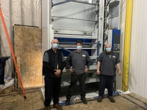 Field Service Technicians installing a Remstar