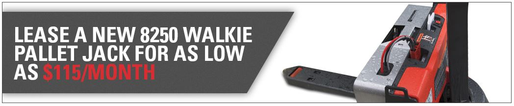 Lease new 8250 walkie pallet jack