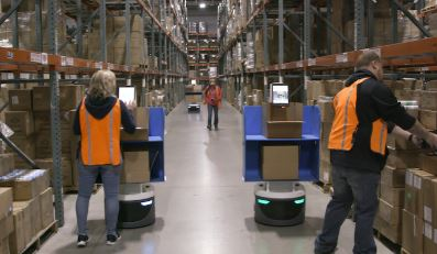 Locus automated mobile robots