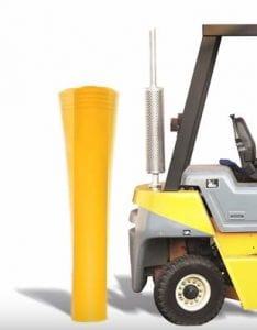 McCue-bollard-absorbs-forklift-impact