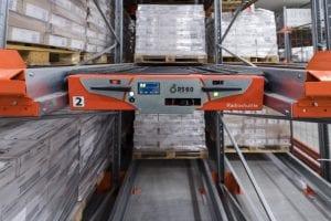 Radioshuttle storage system pallet