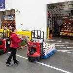 Raymond 8210 in produce warehouse