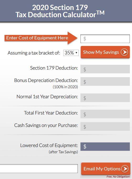 2020 Section 179 calculator