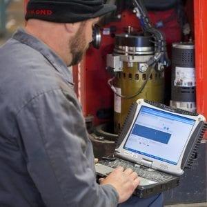 service technician on a wireless workorder