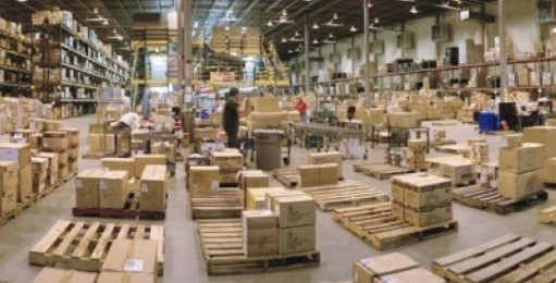 Disorganized warehouse
