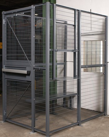 Wire security access cages