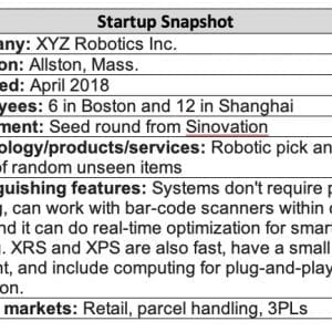 XYZ Robotics speeds up putwall, picking operations