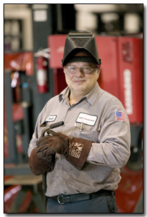Technician performing CFPM
